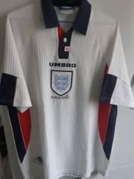 Camisa 1 Inglaterra - 1998 - Umbro - Tamanho G
