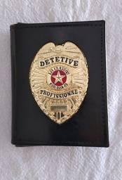 Porta documentos em couro para Detetive Profissional (águia)