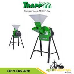Frete Grátis - Forrageiro Picador Triturador Trapp TRF-50 com Motor 1,5cv Monofasico