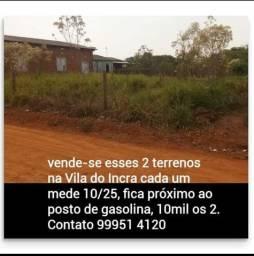 2 terrenos na Vila do Incra