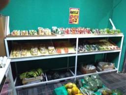 Bancada/expositor de frutas e verduras