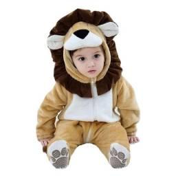 Macacão Bebê Fantasia Rei Leão