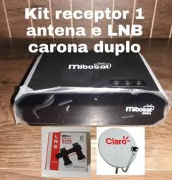 Kit receptor com 1 antena e LNB carona