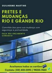 Fretes e Mudanças caminhão baú melhor preço da região