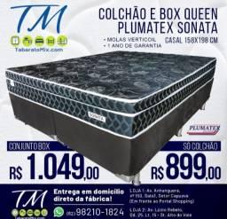 Conjunto Queen Plumatex Sonata Black 26CM Molas Verticoil! 10x Sem Juros