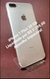 iPhone 7 Plus Prata ( Impecável )