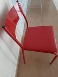 Cadeira escritório com assento estofado