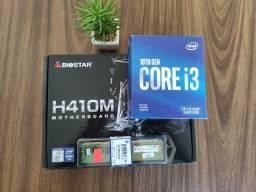 Kit Gamer i3 10ª Geração + Placa mãe Biostar H410 M2.0 + 8gb DDR4 3200MHZ