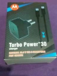 Carregador turbo Motorola 30W Qualcom Quick Charge