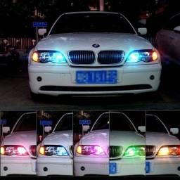 Par lâmpada LED T10 Rgb 5050 16 Cores + Controle