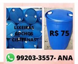 Tambores plásticos de 200 litros