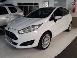 New fiesta 1.6 hach titanium manual flex completo ar digital banco couro som original usb