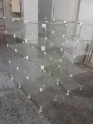 Prateleiras de vidro para lojas