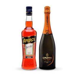 Kit Aperol Spritz - Aperol 750ml + Espumante Prosecco Cinzano Pro Spritz 750ml