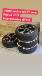 Rodas aro 17 novas pneu 90%