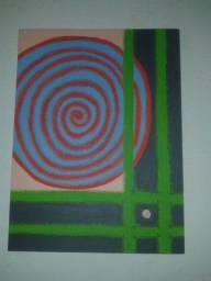 Pintura Abstrata  em tela com tinta a óleo