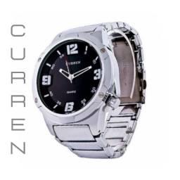 Relógios Curren 8111 Branco e Preto Resistente á água Analógico