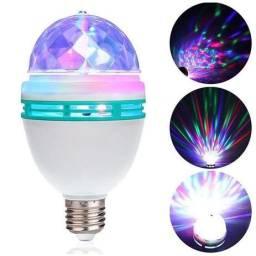 Lampada led  colorida giratorio