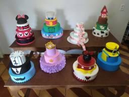 Kit bolos fake para decorar a sua festa