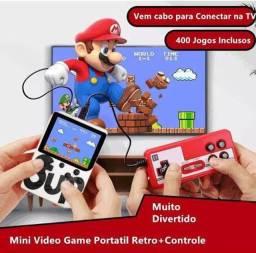 Vídeo Game Portátil Retrô 400 Jogos Frete Grátis
