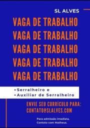 Vaga serralheria Gravataí-RS