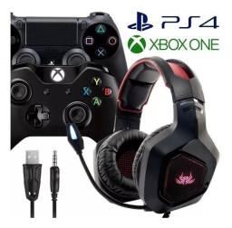 Fone Gamer Headset Pc Ps4 Xbox One Microfone 7.1 Rgb Kp-489 - Loja Natan Abreu