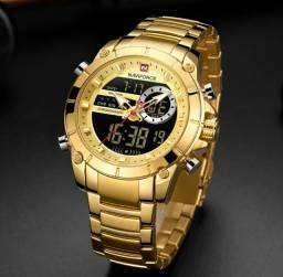 Relógio Naviforce Dourado (Original) Novo