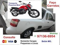 Carretos pequenos- Transporte - Fretes- Moto- Cargas Leves- Betim MG