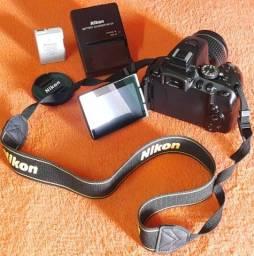 Nikon D5300 Com Lente 18-55mm carregador e bateria