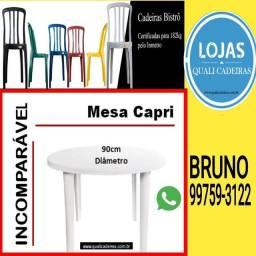 Quali cadeiras Plásticas_ Mesa redonda Desmontável