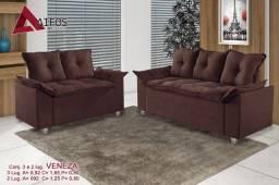 (3789) Conjunto Sofá 2 e 3 Lugares Veneza SRP whatsapp 99613=3789