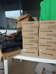 Kit c/ 10 câmeras de segurança + 2 DVR