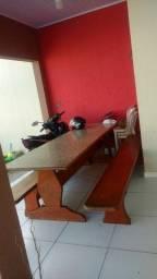 Troco mesa de madeira em Mogno Maciça!!! por Porcelanato
