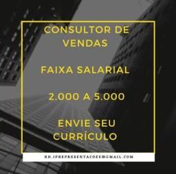 Título do anúncio: Consultor vendas