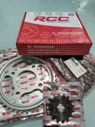 Kit relação Cg 150 linha RCC aço 1045