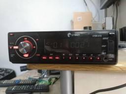 Rádio carro cyber USB/cd /cartão M