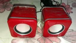 Caixa de som 4w rms usb mini-sp104 vermelha multilaser