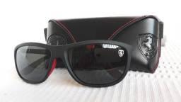 8633dc681ce7a Óculos Ray-Ban RB8351m Scuderia Ferrari Preto Fosco Polarizado - Importado  e Novo