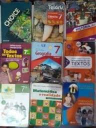 Livros Didaticos -7º ano-do Colegio Sta Terezinha -de 2018