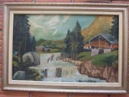 Quadros antigos pintado a mão