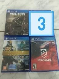 Pacote jogos de PS4