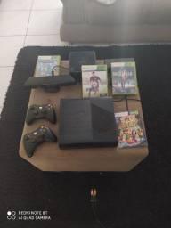 X box 360 com Kinect e quatro jogos