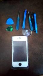 Tela/Vidro Frontal iPhone 4/4S Com Acessórios Para Troca