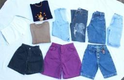 Lote de Calças e Shorts Mom Jeans Vintage Cgc