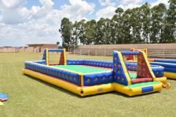 Futebol de sabão COM MOTOR 12x6 metros
