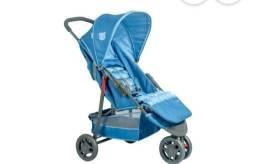 Carrinho 3 rodas azul delta pet yogage