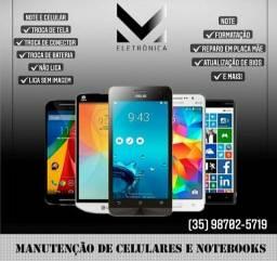 Manutenção de celulares e notebooks