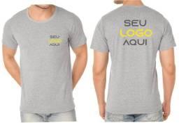 Kit com 30 Camisetas Estampadas com sua Logo Frente e Costa