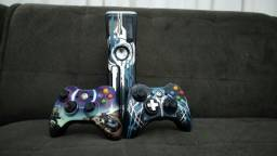 Xbox 360 edição especial do halo 4 de brinde um controle personalizado do halo 3