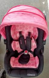 Conjunto carrinho+bebê conforto Cosco